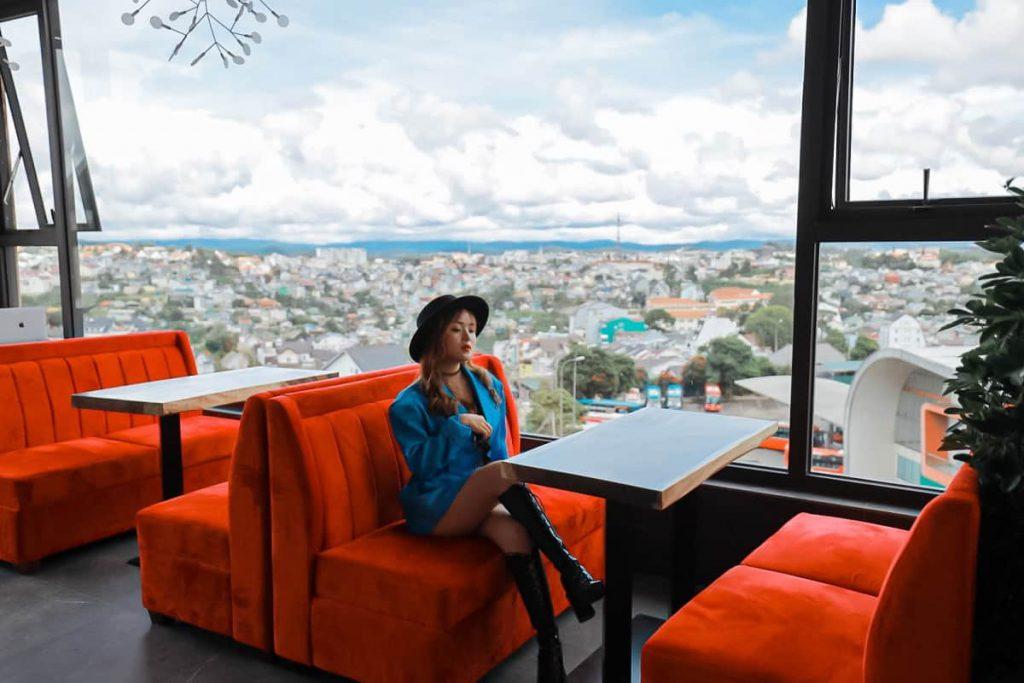 Quán cafe Đà Lạt ngắm view thành phố
